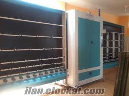 satılık ısıcam yıkama makinesi ve diğer malzemeler