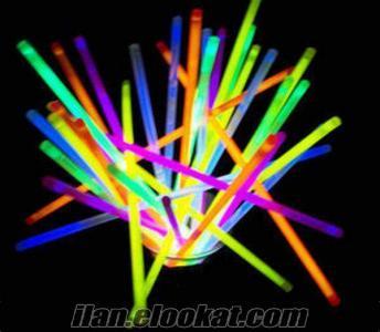 TOPTAN 100 Adet Işıklı Çubuk Glow Stick Fosforlu Çubuk