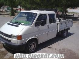 İzmirde çiftkabin Transporter Wolksvagen 2001 TEMİZ