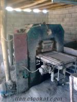 şanlıurfa-birecikte sahibinden satılık tekli karo döküm makinası