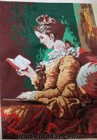 sahibinden satilik kitap okuyan kız goblen