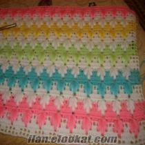 Bebek battaniyesi ıstenilen renk örüyorum
