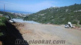 Alanyada deniz mazaralı satılık arazi