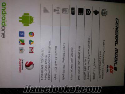Discovery General mobile 4G 4 günlük telefon ihtiyaç için satiliyor