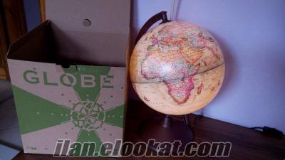 26 cm 1. Sınıf kalitede GLOBE marka Işıklı Antik Yerküre