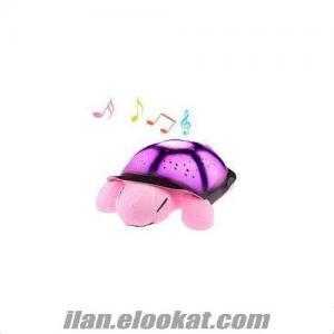 TOPTAN Işıklı Müzikli Kaplumbağa Çocuk Gece Lambası