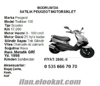 Bodrum da satılık Peugeot Trekker 100 cc motorsiklet