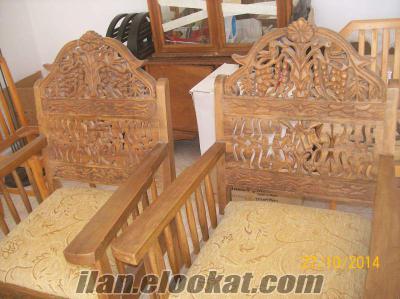 mardinden oymalı satılık koltuk takımı