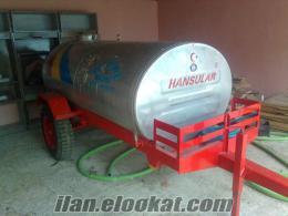 satlık su tankeri 3 tonluk