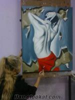 Antalyada sanat evi, resim kursu