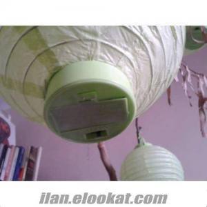 TOPTAN Ledli Japon Feneri, Işıklı Kağıt Fener