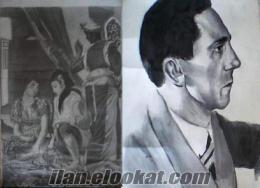 akademisyen ressamdan portre çalışmaları