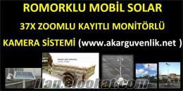 ROMORKLU MOBİL SOLAR 37 X ZOOM ÖZELLİKLİ KAMERA KAYIT İZLEME SİSTEMİ