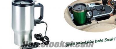 araç içi su ısıtıcı termos kupa bardak