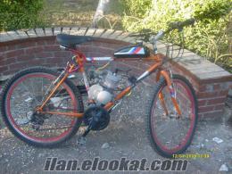 Bağcılarda benzinli bisiklet