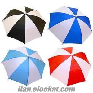 TOPTAN Şapka Şemsiye, Kafaya Takılan Güneşlik Şemsiye