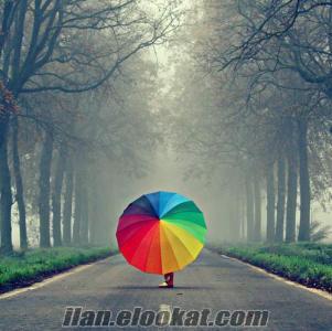 TOPTAN Gökkuşağı Şemsiye (16 Telli 16 Renkli Otomatik)