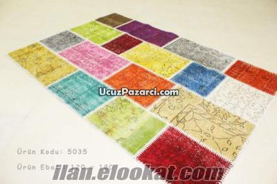 MultiColor Patchwork, Karışık Renkli Eskitme Halı