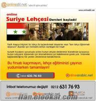 Online Suriye Lehçesi Pratik Arapça Dersleri