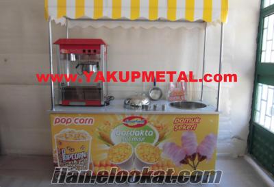 1.KALITE Popcorn Bardakta Mısır & Pamuk Şeker Arabası INDIRIMDE YAKUPMETAL