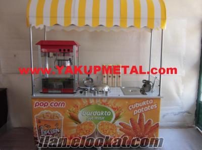Popcorn Bardakta Mısır & Çubukta Patates Arabası KARGO KDV DAHIL