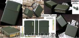 Usa-Zippo Green Matte+Hediyeli / Kargo Bizden !!
