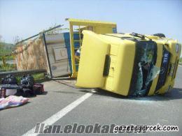 hasarlı yeni kamyon alınır