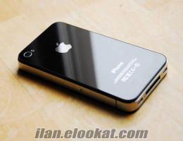 ıphone 4s sıyah 8GB 19 ay garantili faturalı kutulu nokta çizik yok
