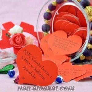 TOPTAN Aşk Kavanozu Sevgiliye Kalpli Kağıtta 365 Mesaj