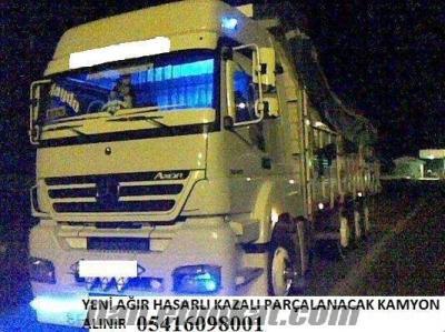 ağır hasarlı pert kazalı kamyon cekici alınır