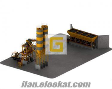 Satılık 120 m3/s kapasiteli hazır beton santrali