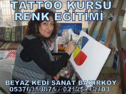 İstanbul diplomalı dövme kursu verenler beyaz kedi tattoo