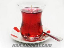 Dekoratif Çay Şeklinde Jel Mum İlginç Buluş Ürünü!!!