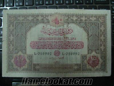osmanlı kağıt paraları ve plak alınır