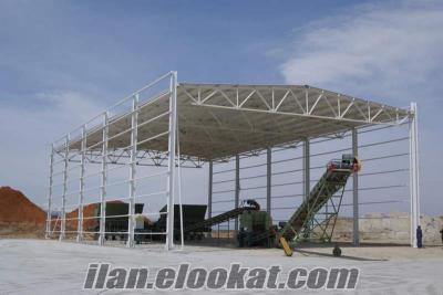 Çelik Konstrüksiyon Fabrika binaları, Hangar, Depo, Atölye İmalat