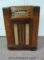 antika lambalı radyo müzik dolabı makaralı teyp tamiri