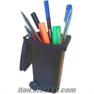 Çöp Kutusu Şeklinde Kalemlik Rubbish Bin Pen Holder