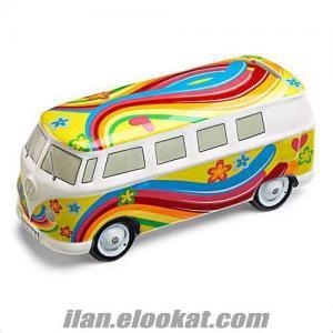 Dekoratif Oyuncak Vosvos Minibüs Kumbara