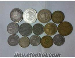 350 adet metal 10 adet kagıt eski para kolleksiyonumu satıyorm