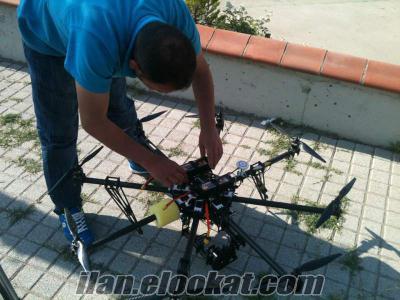 satlık sekiz pervane flycam havadan çekim helikopter