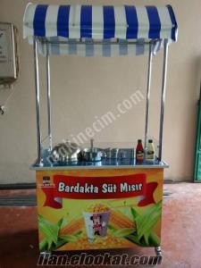satılık sıfır süt mısır arabası