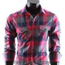 Toptan ucuz gömlek bayan erkek gömlek parti malı gömlek stok gömlek