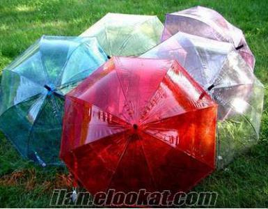 Toptan Ucuz Şeffaf Şemsiye