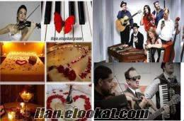 evlenme teklifi sürpriz organizasyonu istanbul keman pankart meşale hediyel