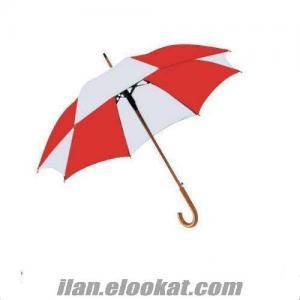 TOPTAN Kırmızı Beyaz 23 Nisan Gösteri Çocuk Şemsiyesi