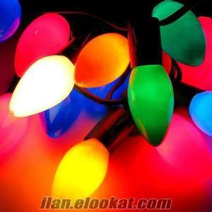 Konik Yılbaşı Işıkları Çam Ağacı Süsleri
