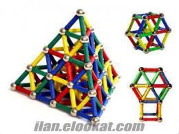 Toptan Magnastix Manyetik Lego Seti (103 & 157 Parça)