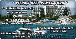 2011 YILBAŞI KEMER TURU LİMAK LİMRA HOTEL KONAKLAMA + ULAŞIM
