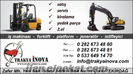 silivri forklift servis bakım tamir kiralık, silivri iş makinası tamir bakım