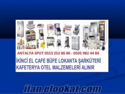 ANTALYA 2.EL KOMPLE CAFE RESTAURANT MALZEMELERİ ALANLAR SPOTÇULAR